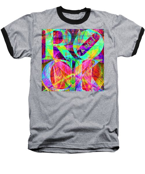 Rock And Roll 20130708 Fractal Baseball T-Shirt