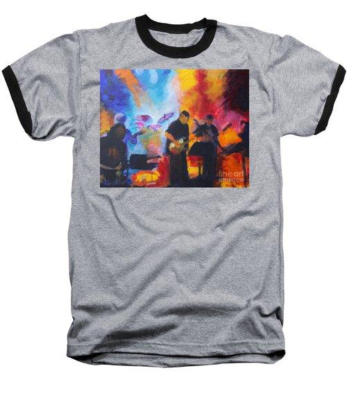 Rock And Roll Baseball T-Shirt by Jan Bennicoff