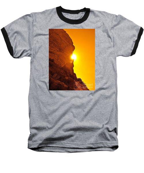 Rock Eclipse  Baseball T-Shirt by Gem S Visionary
