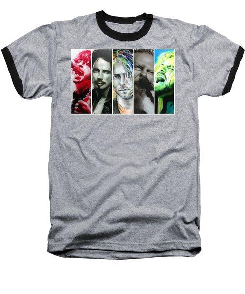 Rock Montage I Baseball T-Shirt