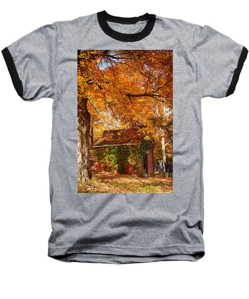 Baseball T-Shirt featuring the photograph Rock Of Ages Surrouded By Color by Jeff Folger