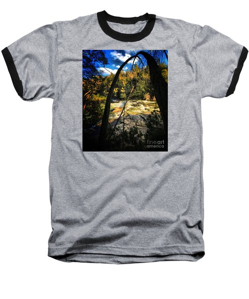 Rock Slide Baseball T-Shirt by Robert McCubbin