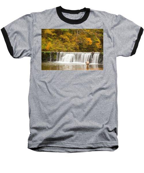 Baseball T-Shirt featuring the photograph Rockbridge Fisherman by Steven Bateson