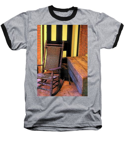 Rocking Chair And Woodbox Baseball T-Shirt
