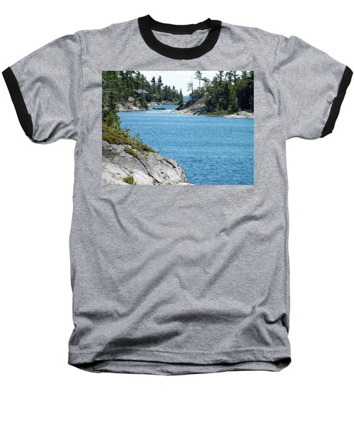 Rocks And Water Paradise Baseball T-Shirt by Brenda Brown