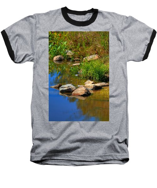 Baseball T-Shirt featuring the photograph A Clear Reflection by Ester  Rogers