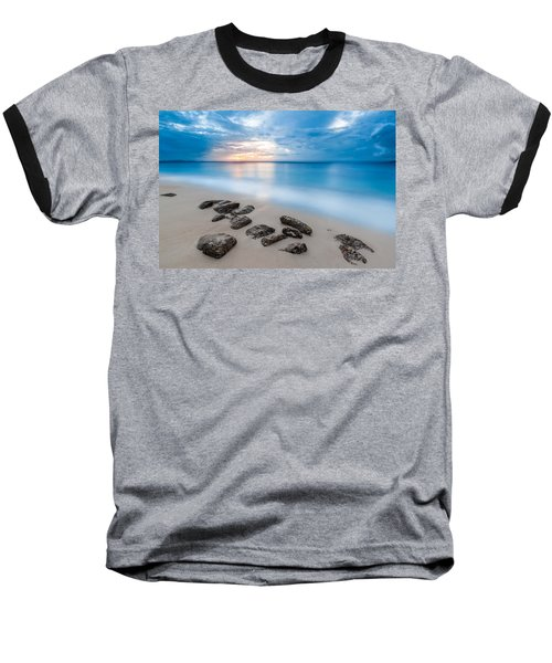 Baseball T-Shirt featuring the photograph Rocks By The Sea by Mihai Andritoiu