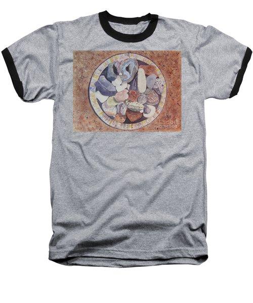 Baseball T-Shirt featuring the painting Rocks by Carol Flagg
