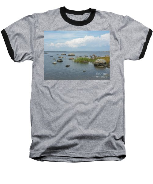 Rocks On The Baltic Sea Baseball T-Shirt