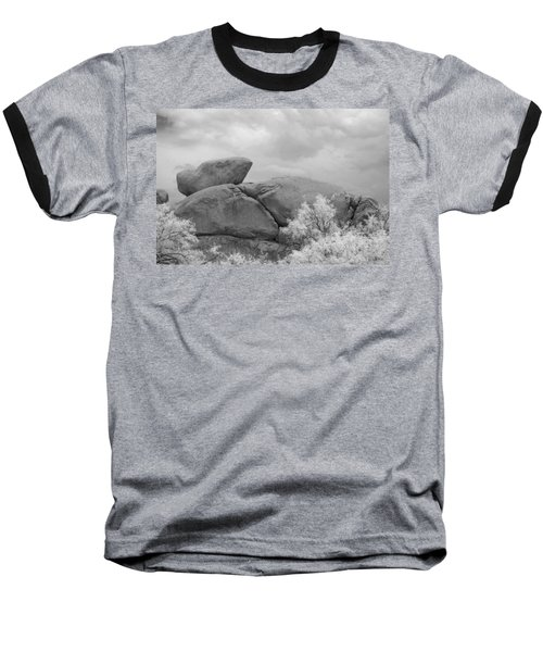 Rocks Under Ir Sky Baseball T-Shirt