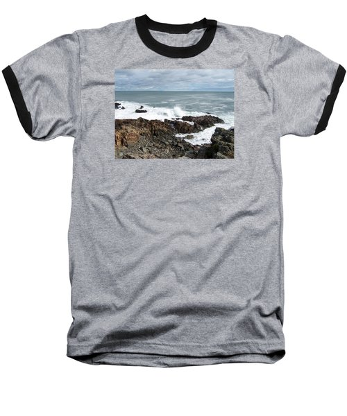 Rocky Coast Baseball T-Shirt by Catherine Gagne