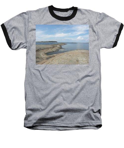 Rocky Coastline In Hamina Baseball T-Shirt