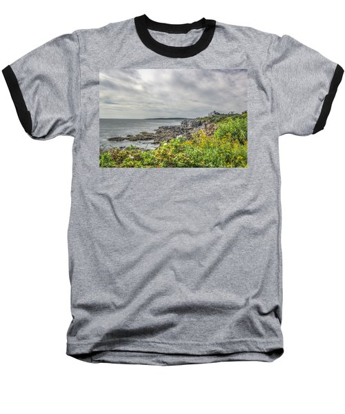 Baseball T-Shirt featuring the photograph Rocky Maine Shoreline by Jane Luxton