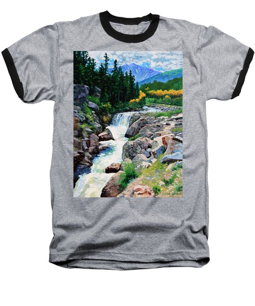 Rocky Mountain High Baseball T-Shirt by John Lautermilch