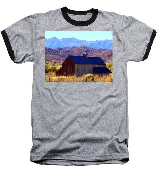 Baseball T-Shirt featuring the photograph Rocky Mountain Retreat by Jackie Carpenter