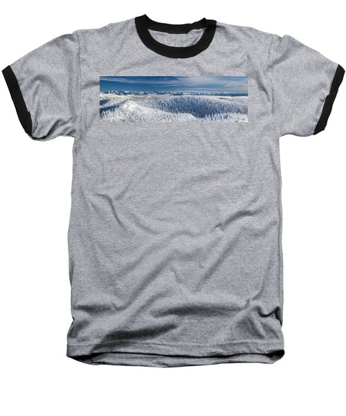 Baseball T-Shirt featuring the photograph Rocky Mountain Winter by Aaron Aldrich