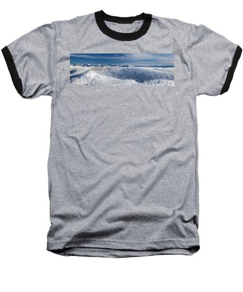 Rocky Mountain Winter Baseball T-Shirt by Aaron Aldrich