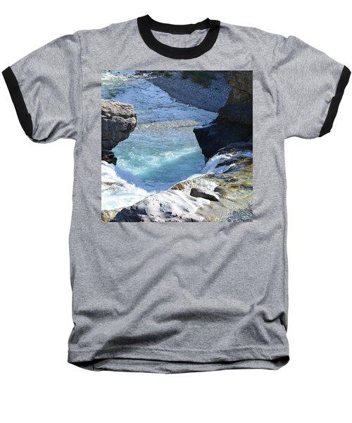 Elbow Falls Water  1.1 Baseball T-Shirt by Cheryl Miller