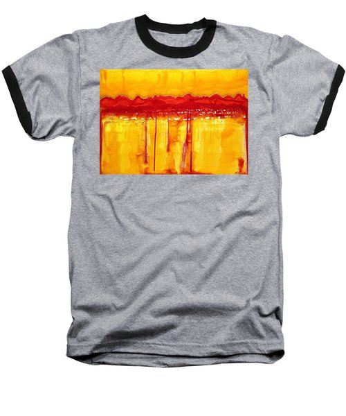 Rocky Mountains Original Painting Baseball T-Shirt by Sol Luckman