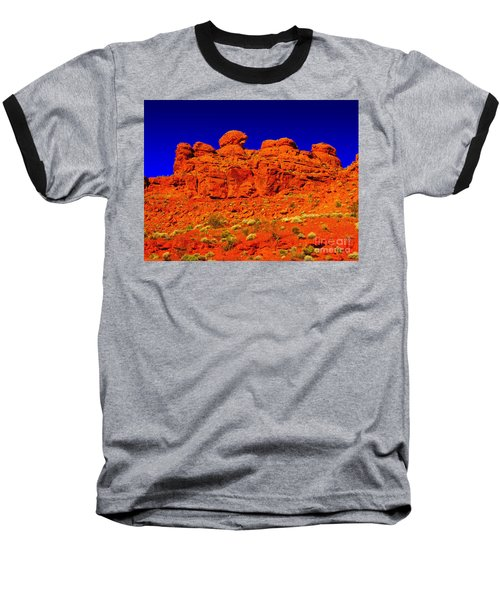 Baseball T-Shirt featuring the photograph Rocky Outcrop by Mark Blauhoefer