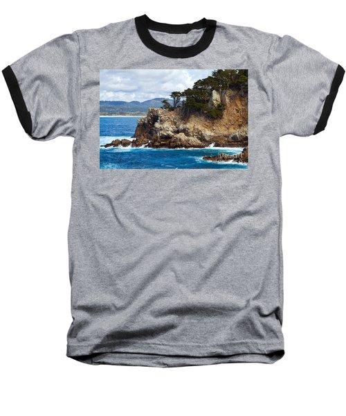Rocky Outcropping At Point Lobos Baseball T-Shirt