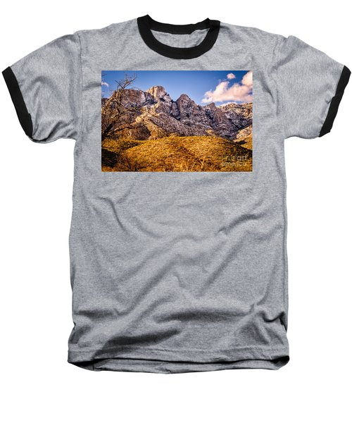 Baseball T-Shirt featuring the photograph Rocky Peaks by Mark Myhaver