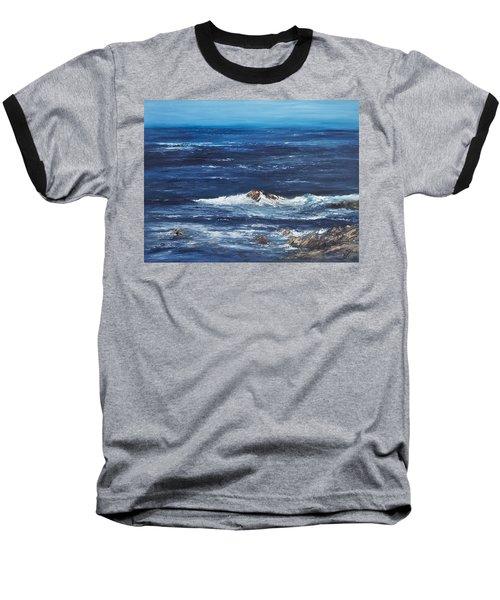 Rocky Shore Baseball T-Shirt by Valerie Travers