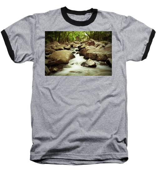 Rocky Stream Baseball T-Shirt by Michael Porchik