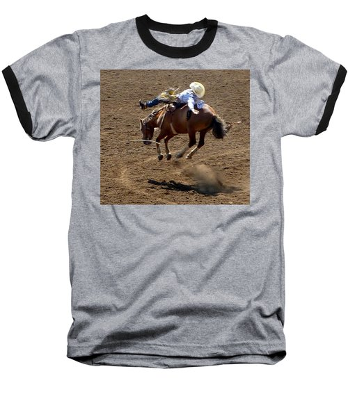 Rodeo Time Bucking Bronco 2 Baseball T-Shirt