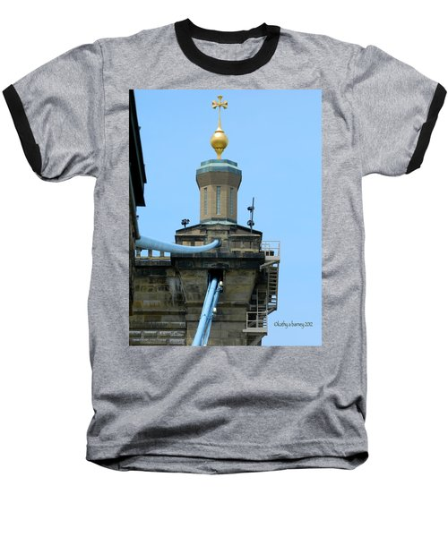 Baseball T-Shirt featuring the photograph Roebling Bridge From Kentucky by Kathy Barney
