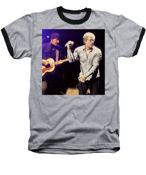 Baseball T-Shirt featuring the photograph Roger Daltrey And The Who by Melinda Saminski