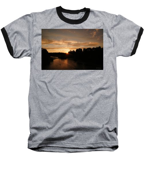 Rogue August Sunset Baseball T-Shirt by Mick Anderson