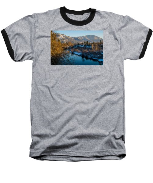 Rogue River Winter Baseball T-Shirt by Mick Anderson