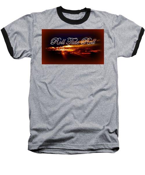 Roll Tide Roll W Red Border - Alabama Baseball T-Shirt