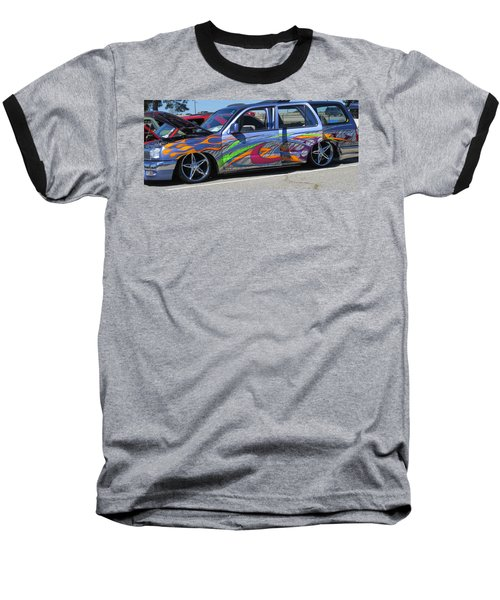 Rolling Art Lowrider Baseball T-Shirt by Aaron Martens