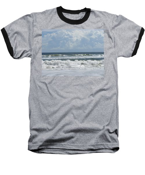 Rolling Clouds And Waves Baseball T-Shirt