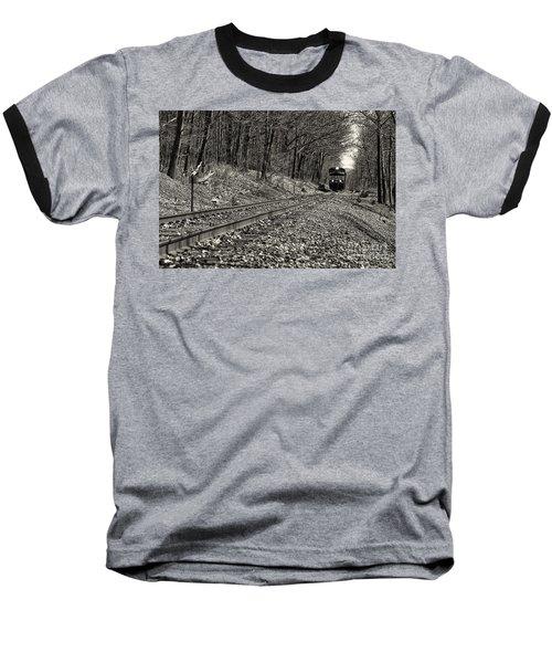 Rolling Down The Tracks Baseball T-Shirt