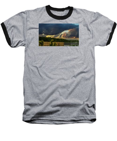 Storm Clouds Rolling In Baseball T-Shirt