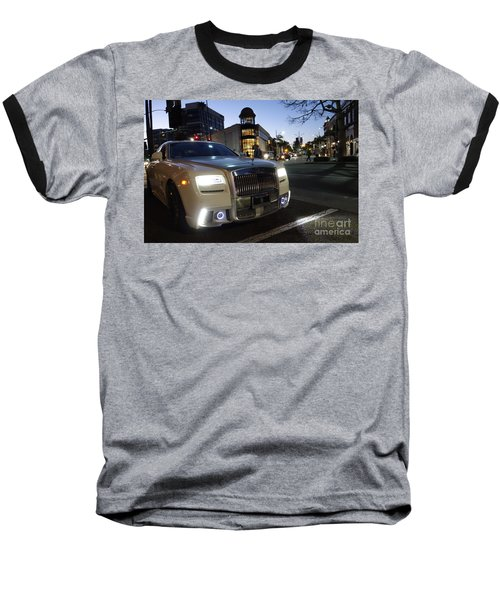Rolls Royce Parked At The Bottom Of Rodeo Drive Baseball T-Shirt