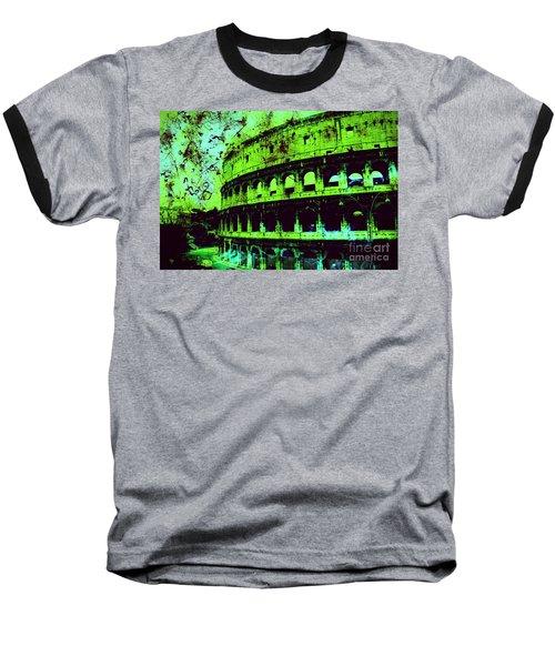 Roman Colosseum Baseball T-Shirt