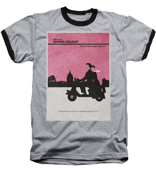 Roman Holiday Baseball T-Shirt by Ayse Deniz