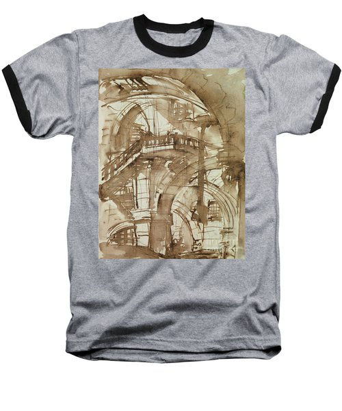 Roman Prison Baseball T-Shirt by Giovanni Battista Piranesi