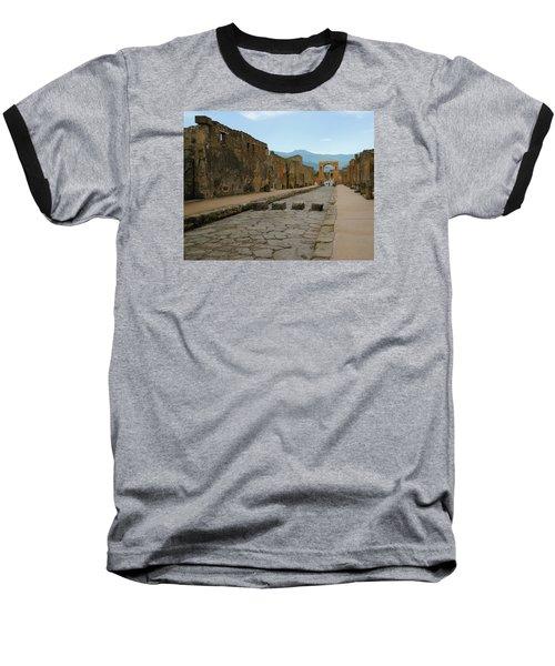 Roman Street In Pompeii Baseball T-Shirt