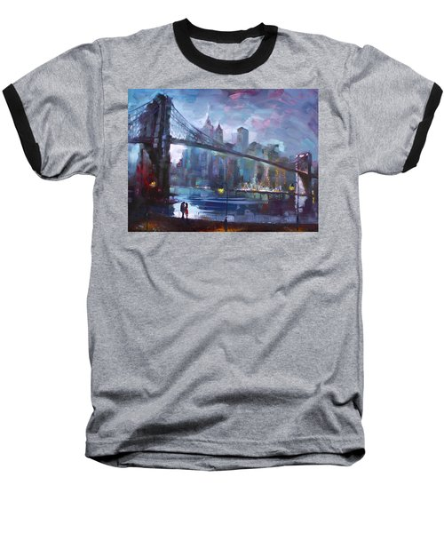 Romance By East River II Baseball T-Shirt by Ylli Haruni