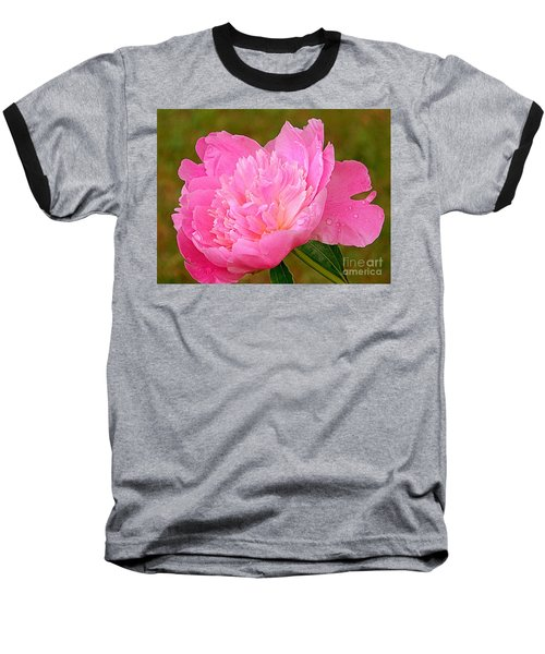 Pink Peony Baseball T-Shirt by Eunice Miller