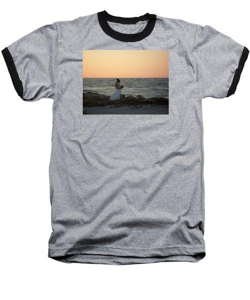Romance In Captiva Baseball T-Shirt by Val Oconnor
