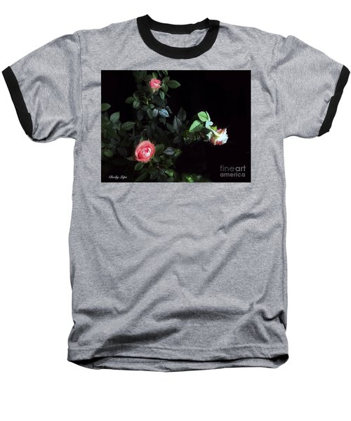 Romance Of The Roses Baseball T-Shirt by Becky Lupe