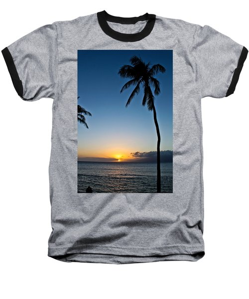 Romantic Maui Sunset Baseball T-Shirt by Joann Copeland-Paul