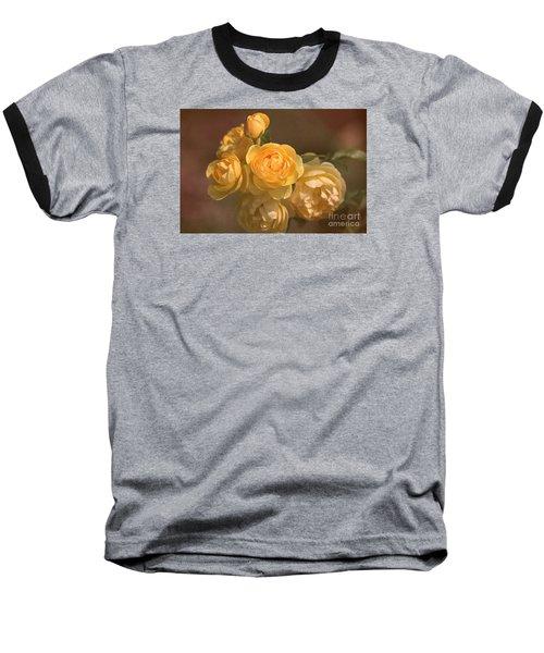 Romantic Roses Baseball T-Shirt by Joy Watson