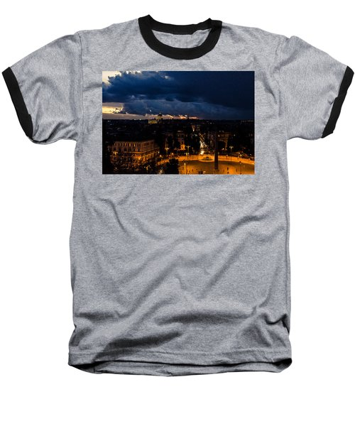 Rome Cityscape At Night  Baseball T-Shirt